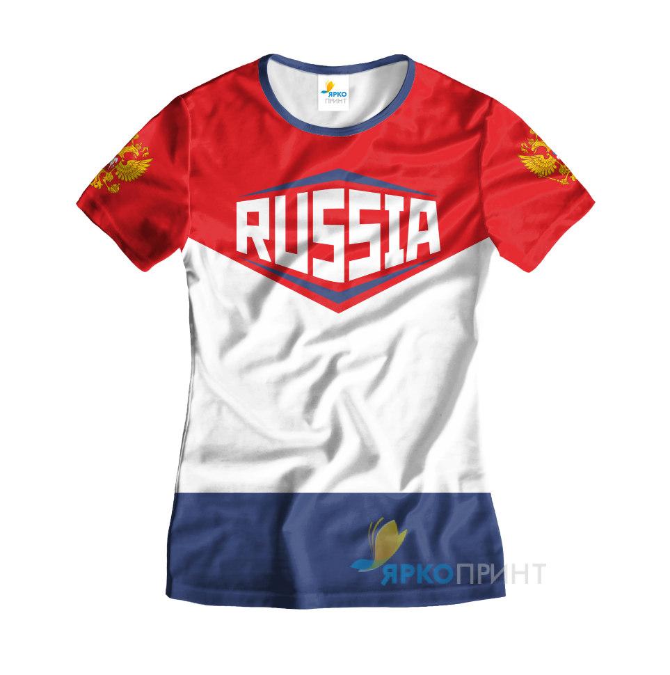 8544592acacb7 Футболка женская Сборной России купить в интернет-магазине ЯркоПринт